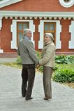 Old couple at house Stock Images