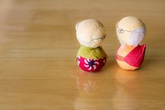 Old couple japan. Royalty Free Stock Image
