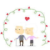 An old couple in love Stock Photo