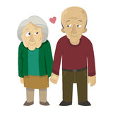 Old couple in love Stock Image