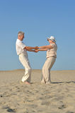 Old couple in love Stock Photography