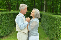 Old couple in love Royalty Free Stock Photos