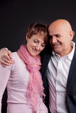 Old couple loving each other Royalty Free Stock Photos
