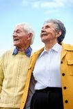 Old couple outdoors Stock Image
