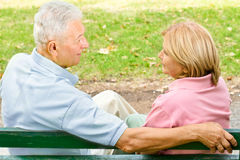 Old couple outdoors Stock Images