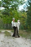 Old couple at park Stock Photos