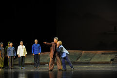 The old couple's expectations- Jiangxi opera a steelyard Stock Image