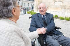 Old couple senior man and woman together. Old couple senior men and women together couple stock photo