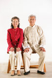 Old couple sitting together Royalty Free Stock Image