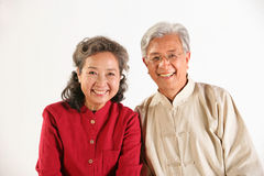 Old couple sitting together Royalty Free Stock Photos