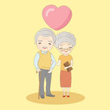 Old couple smile to you Royalty Free Stock Image