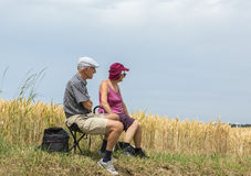 Old Couple - Tour de France 2015 Stock Images