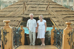 Old couple on vacation Stock Photography