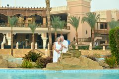 Old couple on vacation Royalty Free Stock Photo