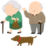 Old Couple. A vector of old couple Royalty Free Stock Images