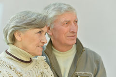 Old couple on a walk Royalty Free Stock Photography