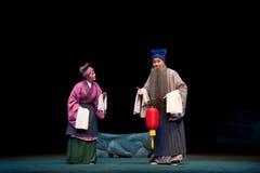 The old couple:Jiangxi opera Breeze Pavilion Stock Photo
