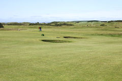 Old course at St. Andrews in Scotland royalty free stock image