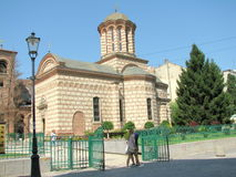 Old Court Church. Located in the center of Bucharest, near the remains of the Old Princely Court, The Curtea Veche Church (Saint Anthony Church) is the oldest Stock Photos