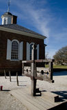 Old Court House - Williamsburg, Virginia. Old Court House with stocks in Williamsburg, Virginia, USA Royalty Free Stock Photo