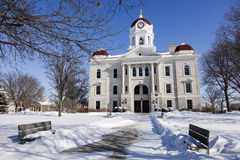 Old courthouse in Carthage, Illinois Royalty Free Stock Photos