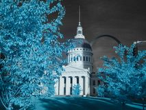 Old Courthouse and Gateway Arch. St. Louis, MO stock photography