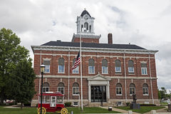 Old courthouse in Marshall, Clark County Royalty Free Stock Photo