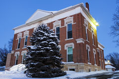Old courthouse in Sparland Stock Photography