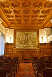 Old Courtroom. Courtroom inside the Peace Palace, Den Haag, Netherlands Stock Image