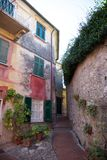 Old courtyard and alley Royalty Free Stock Images