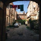 The old courtyard of arkoyu Stock Image