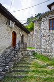 Old courtyard in Berat, Albania Royalty Free Stock Image