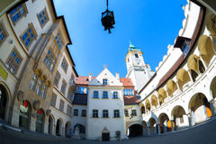 Old Courtyard in Bratislava Royalty Free Stock Images