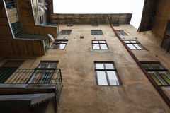 Old courtyard of the city Lviv Royalty Free Stock Photos