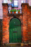 Old courtyard doorway royalty free stock photos