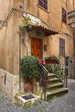 Old courtyard in Nemi. Lazio region. Italy Stock Photography