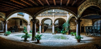 Old courtyard in Palma, Mallorca, Spain Royalty Free Stock Photography