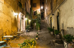 Old courtyard in Rome. Italy Royalty Free Stock Photo