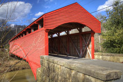 Old covered bridge stock images