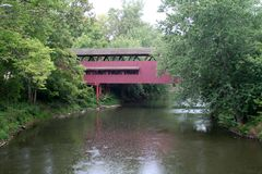 Old Covered Bridge Stock Photography