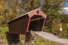 Fletcher Covered Mill In Autumn Royalty Free Stock Images