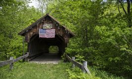 Old covered bridge Cornish, New Hampshire Stock Photo