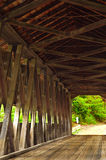 Old covered bridge interior Royalty Free Stock Photography
