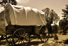 Old covered wagon Stock Photo