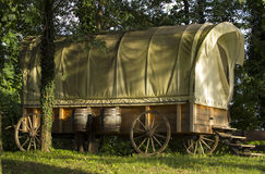 Old covered wagon. royalty free stock image