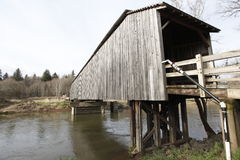An old covered wood bridge Royalty Free Stock Images