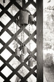 Old cow bell decoration black and white Stock Images