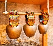 Old cow bells Royalty Free Stock Photography