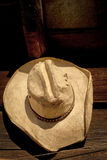 Old cowboy hat Stock Images