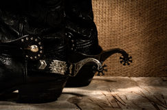 Old cowboy shoes Royalty Free Stock Photography